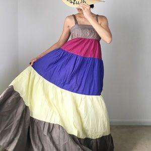MANGO MNG RESORT POP COLOR MAXI DRESS